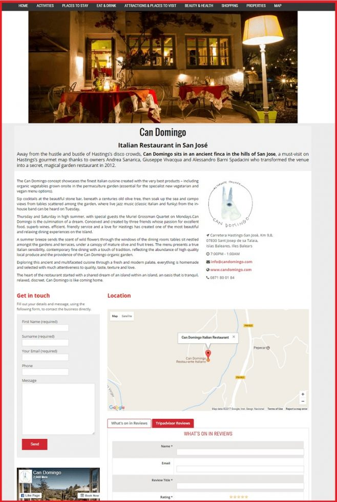 Sales Page Example when Advertise with us What's on in York.net